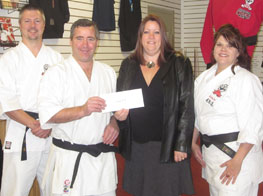 Cheque presentation to Nova Vita Women's Shelter